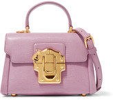 Dolce & Gabbana Lucia Mini Lizard-effect Leather Shoulder Bag - Pink
