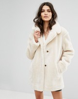 BA&SH Teddy Bear Faux Fur Coat