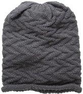 D&Y Women's Zigzag Rolled Edge Beanie Hat