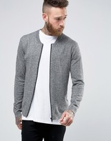 Asos Knitted Bomber Jacket in Cotton