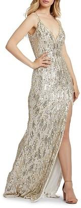 Mac Duggal Sequin Column Gown
