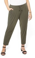 Evans Plus Size Women's Crepe Tapered Trousers