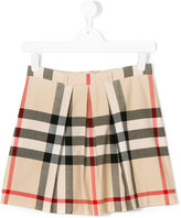 Burberry housecheck pleated skirt - kids - Cotton - 14 yrs