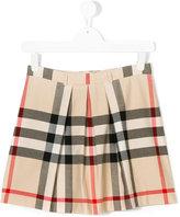 Burberry housecheck pleated skirt