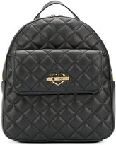 Love Moschino front flap quilted backpack - women - Polyurethane - One Size