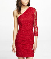 Express One Sleeve Lace Sheath Dress