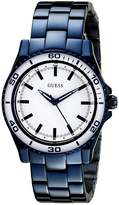 GUESS GUESS? Women's U0557L3 Iconic Mid-Size Stainless Watch with White Top Ring