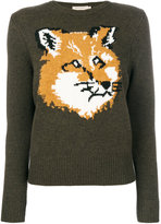MAISON KITSUNÉ fox pattern jumper - women - Lambs Wool - S