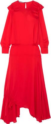 Preen Line Mia Ruffled Crepe De Chine Maxi Dress