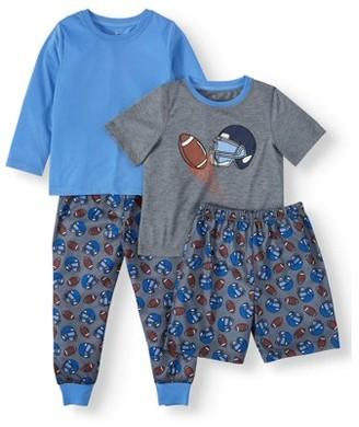 Championship Gold Toddler Boy Short & Long Sleeve Mix 'n Match Pajamas, 4pc Set (2T-4T)