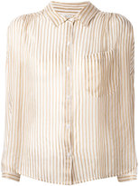 Mes Demoiselles sheer striped blouse - women - Polyester/Viscose - 36
