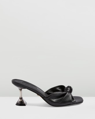 Topshop Rizz Knot Perspex Mules