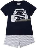 Il Gufo Truck Jersey T-Shirt & Seersucker Shorts