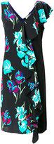 Diane von Furstenberg floral print fringed dress - women - Silk/Polyester/Triacetate - 8