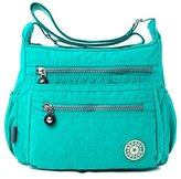 YouNuo Womens Casual Water-resistant Nylon Zipper Adjustable Strap Shoulder Bag Messenger Crossbody Purse
