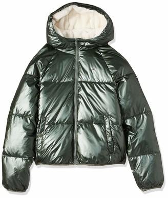 Tommy Hilfiger Girl's Metallic Shine Short Puffer Jacket