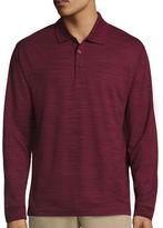 Haggar Long-Sleeve Polyester Polo