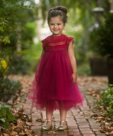 Couture Just Girls' Special Occasion Dresses - Sangria Ruffle Magnolia Dress - Toddler & Girls
