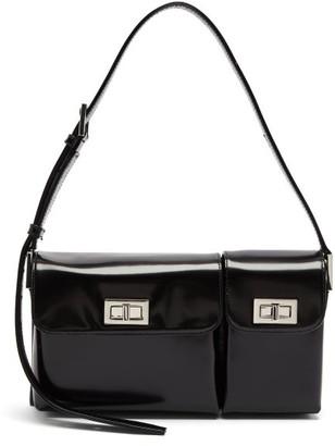 BY FAR Billy Patent-leather Shoulder Bag - Black