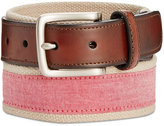 Club Room Men's Chambray Casual Belt, Only at Macy's
