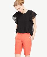 Ann Taylor Petite Kate Cotton Walking Shorts