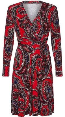 Yumi Abstract Wrap Dress