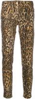 Blumarine leopard print skinny trousers - women - Cotton/Polyester/Spandex/Elastane - 40