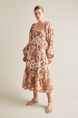 Seed Heritage Blouson Midi Dress