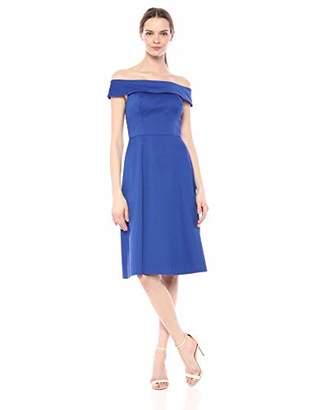 Calvin Klein Women's Folded Off The Shoulder A Line Dress