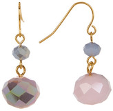 Carolee Double Drop Stone Earrings