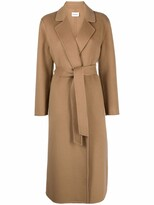Thumbnail for your product : P.A.R.O.S.H. Belted Wool Coat