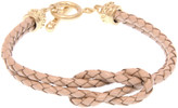 Joy Susan Women's Bracelets CAMEL - Goldtone & Camel Leather Knot Bracelet