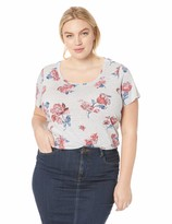 Lucky Brand Women's Plus Size Allover Roses TEE