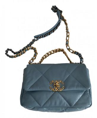 Chanel 19 Blue Leather Handbags