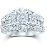 JCPenney MODERN BRIDE 2 CT. T.W. Fancy-Cut Diamond 14K White Gold Ring