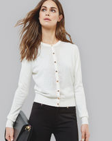 JUNIE Embellished crew neck cardigan