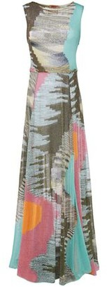 Missoni Sequin-embellished Metallic Crochet-knit Maxi Dress