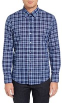 Zachary Prell Men's Leventhal Trim Fit Plaid Sport Shirt