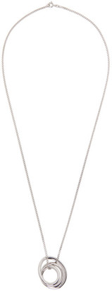 COMPLETEDWORKS SSENSE Exclusive Silver Large Flow Pendant Necklace