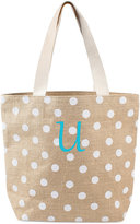 Cathy's Concepts Personalized White Polka Dot Tote Bag