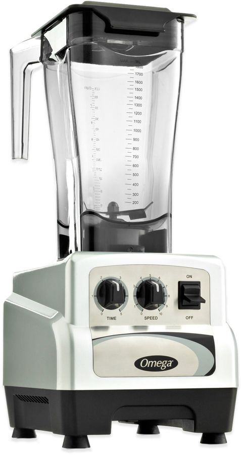 Omega BL480S 64 oz. 3-HP Variable Speed Commercial Blender with Advanced Timer in Silver