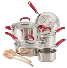 Rachael Ray Create Delicious Stainless Steel 10-Pc. Cookware Set