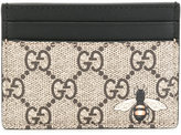 Gucci GG Supreme bee print cardholder - men - Leather - One Size