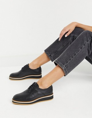 Fiorelli franca leather lace-up shoes in black
