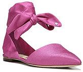 Sam Edelman Brandie Silk Pointed-Toe Ankle Tie Flats