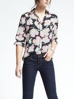 Banana Republic Easy Care Dillon-Fit Floral Print Shirt