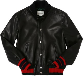 Gucci NAPPA LEATHER BOMBER JACKET