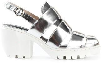 Opening Ceremony Ridged Sole Metallic Sandals