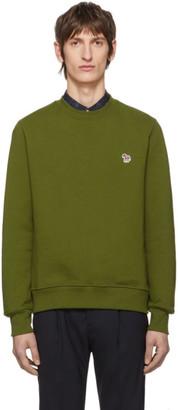 Paul Smith Green Zebra Logo Sweatshirt