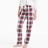 J.Crew Pajama pant in festive plaid cotton poplin